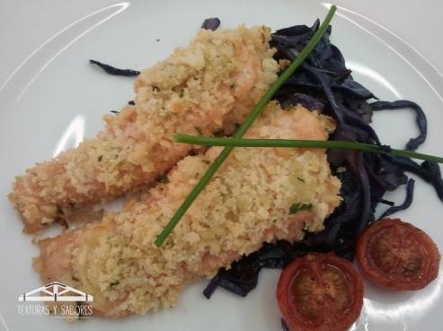supremas de salmon con costra