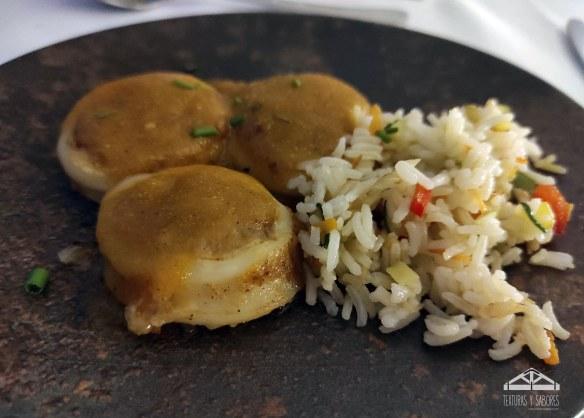 maridaje calamar relleno a la cartagenera con arroz basmati