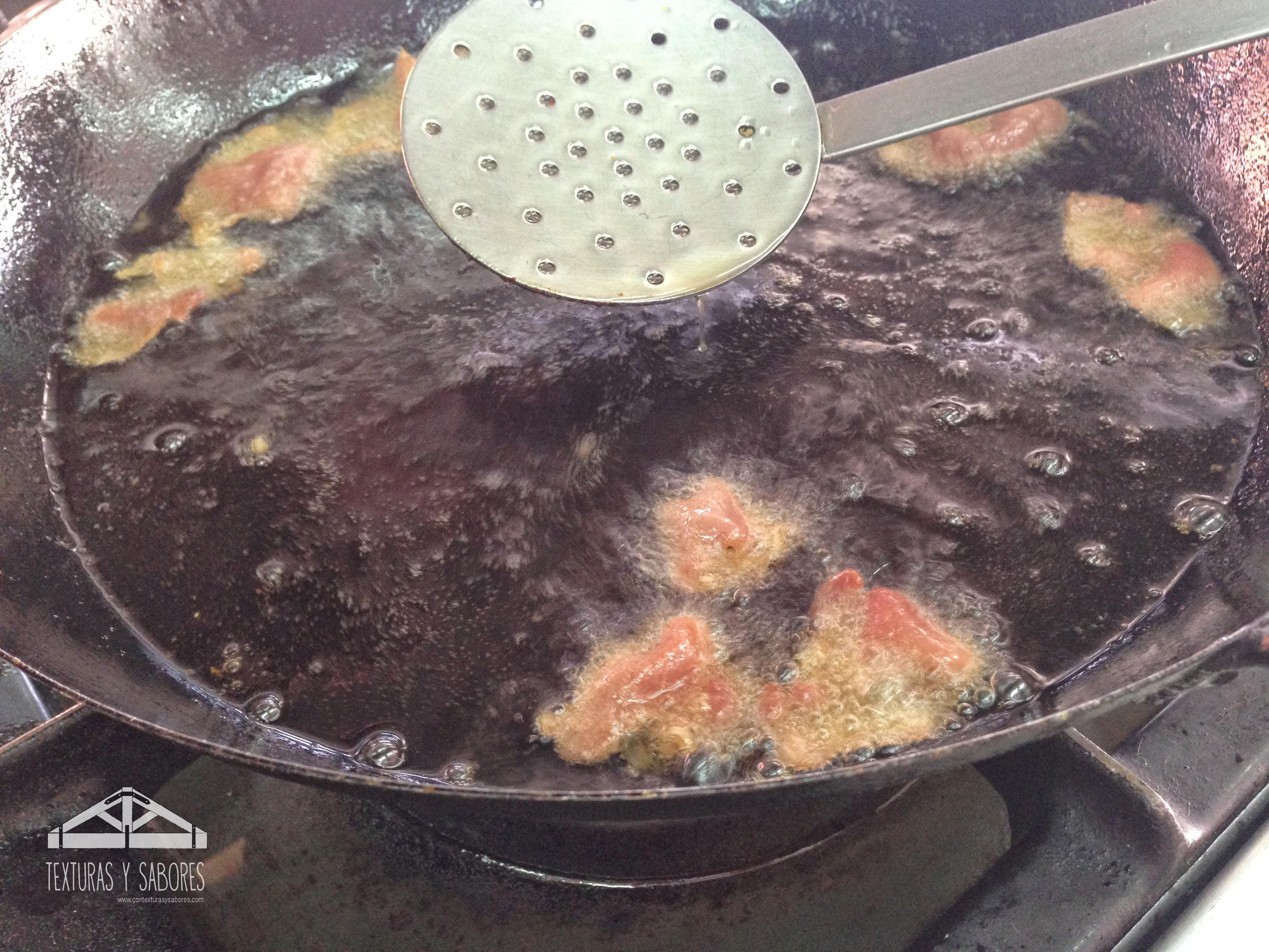 fritura de jamon serrano